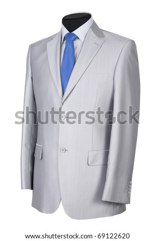 Man's suit isolated on a white background