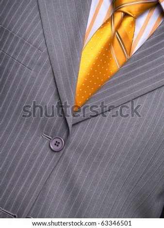 Man's suit with a shirt and a tie - stock photo