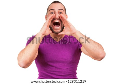 Man screams - stock photo