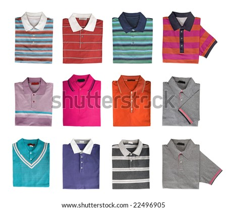 man shirt collection - stock photo