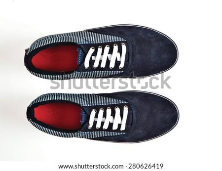 man shoe isolated - stock photo