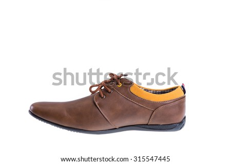man shoes isolated on white background - stock photo