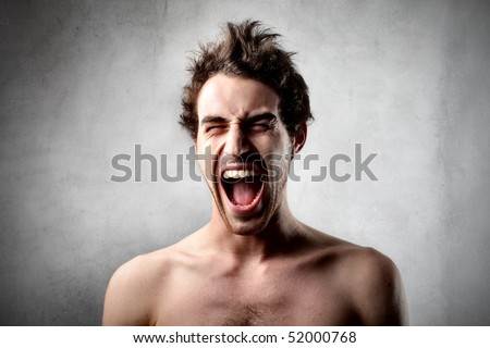 Man shouting - stock photo