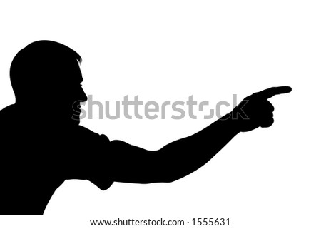 man showing something with hand