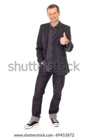 Man showing thumbs up