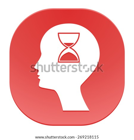 Man silhouette with hourglass - stock photo