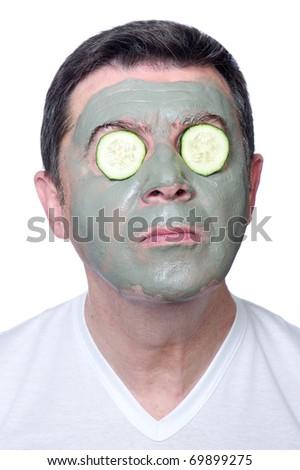 man skin care - stock photo