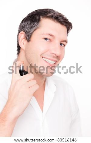 man smells good - stock photo