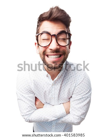 man smiling gesture - stock photo