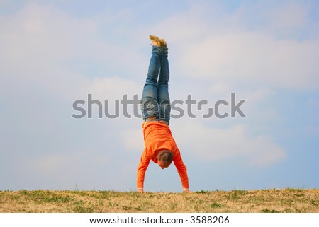 Man Upside Down Stock Photos Royalty Free Images