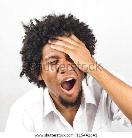Man suffering - stock photo