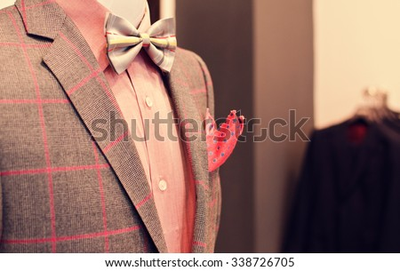 Man suit on a mannequin. - stock photo