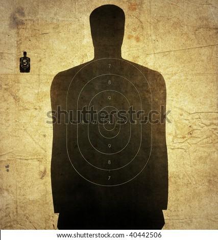 man target - stock photo