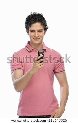 Man text messaging - stock photo