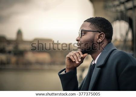 Man thinking of something - stock photo