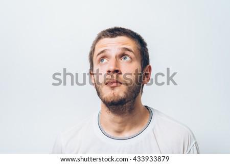Man thinks - stock photo
