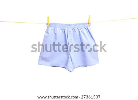 man underwear on clothes line - stock photo