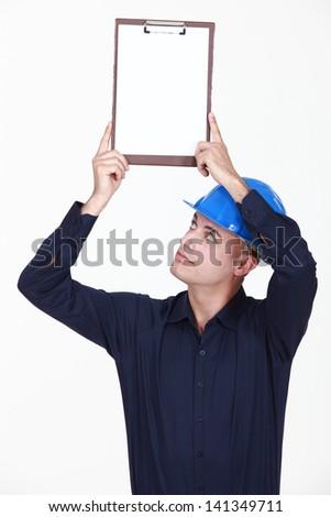 Man up portfolios - stock photo