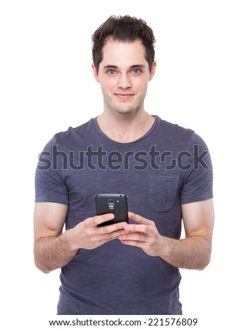 Man use mobile phone
