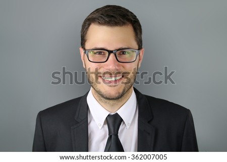 man wearing glasses