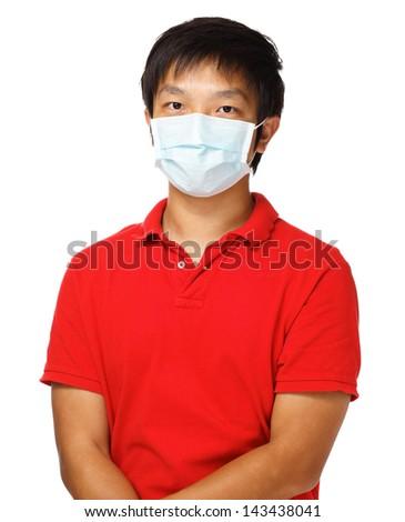Man wears mask - stock photo