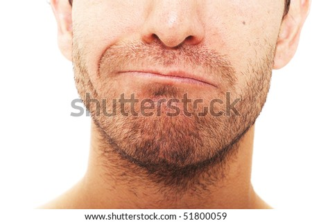 Man with a facial expression - stock photo