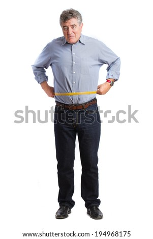 Man with a meter - stock photo