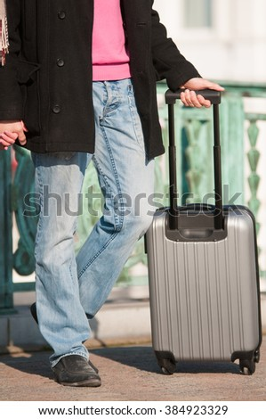 man with a suitcase.