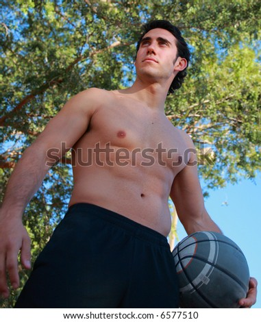 Man with basketball