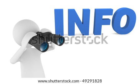 Man with binoculars looking for info; great for search and information concepts. - stock photo