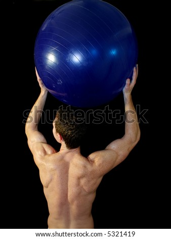 Man with Exercise ball