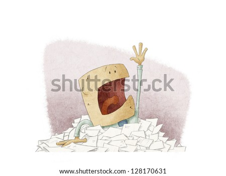 Man with financial problems - stock photo