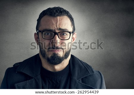 Man with Frustrated Expression   - stock photo