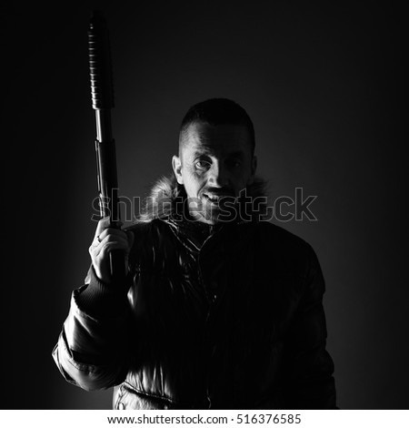 Man with gun