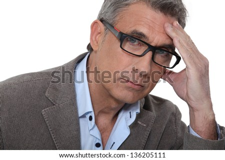 Man with headache - stock photo