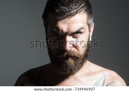 Serious face guy naked — 13