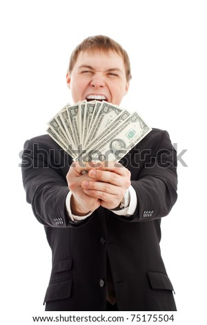 man with money - stock photo