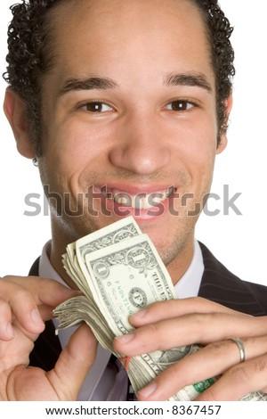 Man with Money - stock photo