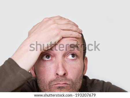 man with problem - stock photo