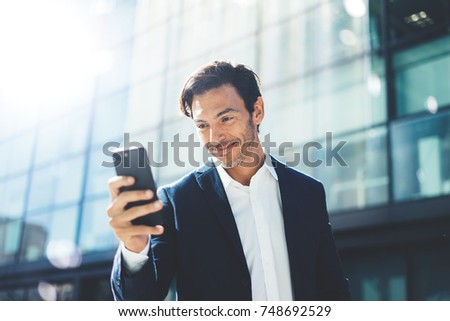 Man with smartphone outdoor