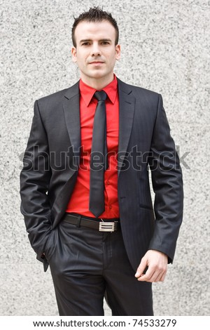 man with stylish suit - stock photo