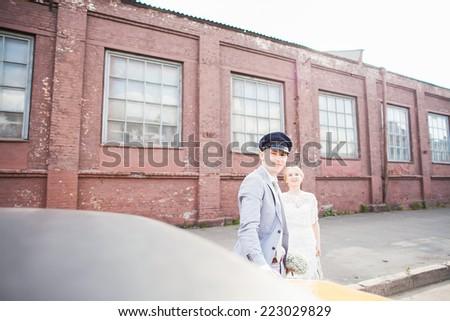 man woman car - stock photo