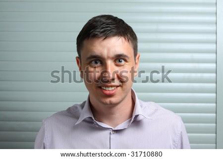 man wonder about his success - stock photo