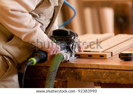 Man working at the table
