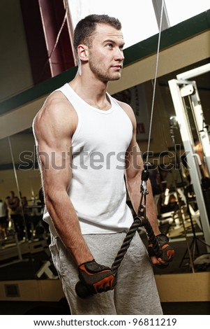 man working in gym