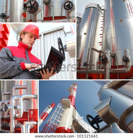 Man working in Power Plant - stock photo