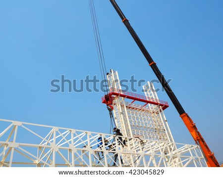 Man Working on the Working at height,sign board