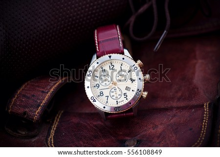 man wrist watch Leather