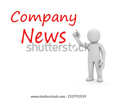 man write company news - stock photo