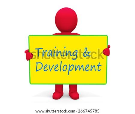 man write training and development - stock photo